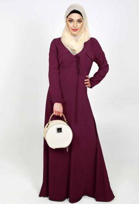 Lace Up Abaya