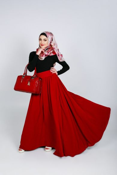 Berry Full Swing Skirt